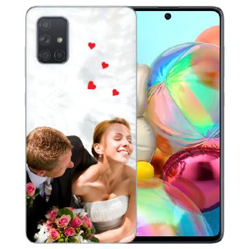 Samsung Galaxy A71 Silikon Schutzhülle TPU Case mit Foto Bilddruck