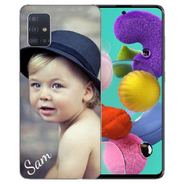 Samsung Galaxy A51 Silikon Schutzhülle TPU Case mit Foto Bilddruck