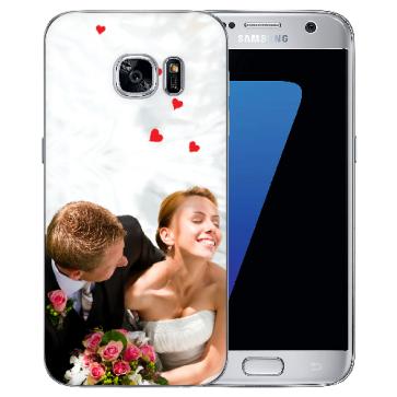 Silikon Hülle Samsung Galaxy S7 TPU Case Schutzhülle mit Foto Hülle