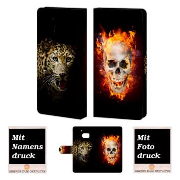 HTC M10 Totenschädel-Tiger  Handy Tasche Hülle Foto Bild Druck