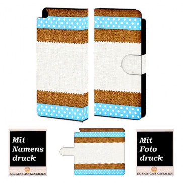 Huawei P8 Muster Handy Tasche Hülle Foto Bild Druck