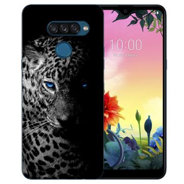 individuelle Schutzhülle mit Foto Bild für LG K50s Leopard mit blauen Augen