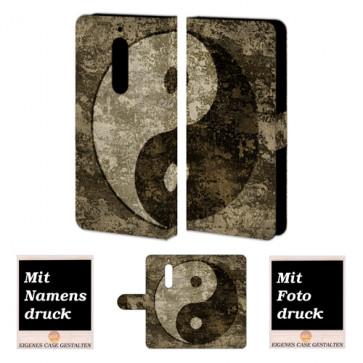 Nokia 5 Schutzhülle Handytasche Hülle mit Yin Yang Foto Text Druck