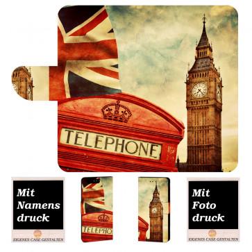 Huawei P10 Plus Handy Tasche mit Big Ben-London + Bild Druck