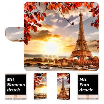 Huawei P10 Plus Personalisierte Handy Hülle mit Eiffelturm + Bild Druck