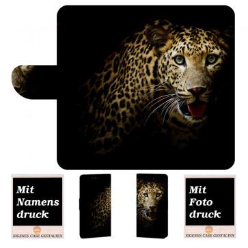 Huawei P10 Plus Schutzhülle Handy Tasche mit Leopard + Bild Druck