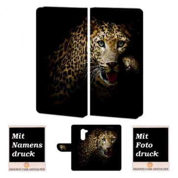 Personalisierte Handy Hülle für Huawei Honor 6X mit Leopard + Foto Druck Etui