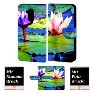 Huawei Nova Smart Personalisierte Handy Hülle mit Lotosblumen Foto Text Druck