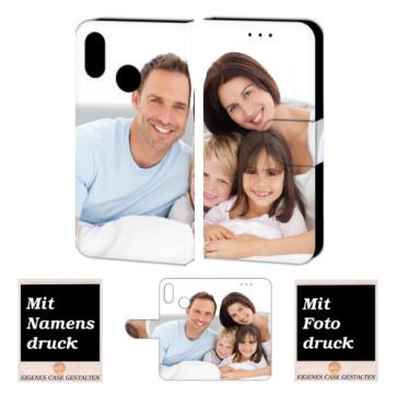 Huawei P Smart (2019) Schutzhülle Handy Tasche mit Foto Text Bild Druck