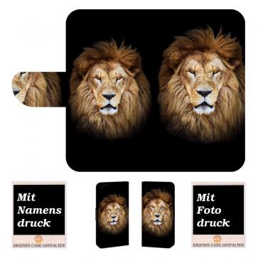 iPhone 6, 6s Individuelle Handy Tasche mit Löwe + Bilddruck Text
