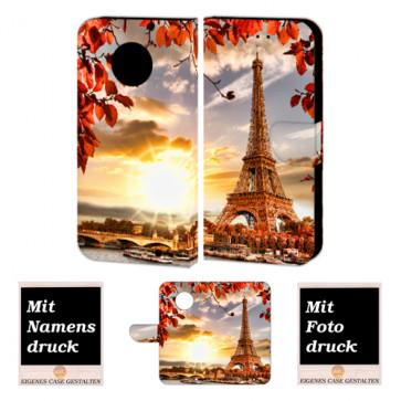 Motorola Maoto G6 Plus Personalisierte Handy Hülle mit Eiffelturm + Foto Druck