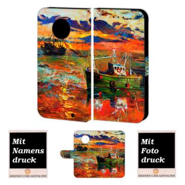 Motorola Maoto G6 Plus Personalisierte Handy Tasche mit Gemälde + Foto Druck Etui