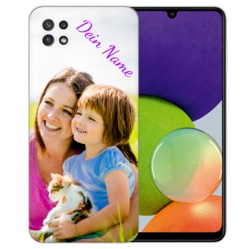 Samsung Galaxy A22 (5G) Silikon Schutzhülle TPU Case mit Foto Bilddruck
