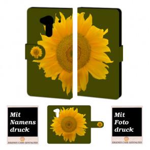Acer Liquid Z5 Sonnenblumen Handy Tasche Hülle Foto Bild Druck