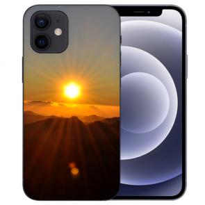 iPhone 12 mini Handy Schutzhülle Tasche mit Fotodruck Sonnenaufgang