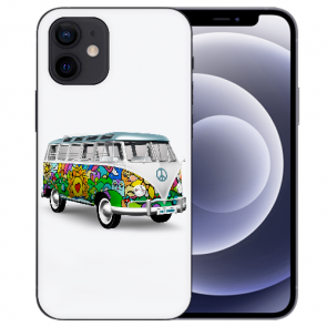 iPhone 12 mini Handy Schutzhülle Tasche mit Fotodruck Hippie Bus