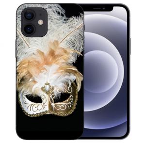 iPhone 12 mini Handy Schutzhülle Tasche mit Fotodruck Venedig Maske