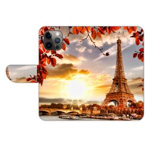 Schutzhülle Handy Hülle mit Bilddruck Eiffelturm für iPhone 12 Pro Etui