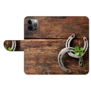 iPhone 12 Pro Personalisierte Handy Hülle mit Bilddruck Holz hufeisen