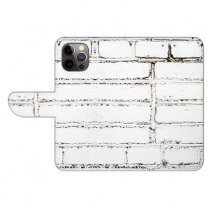iPhone 12 Pro Max Handyhülle Tasche mit Bilddruck Weiße Mauer