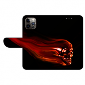 iPhone 12 Pro Max Handyhülle Tasche mit Totenschädel Bilddruck