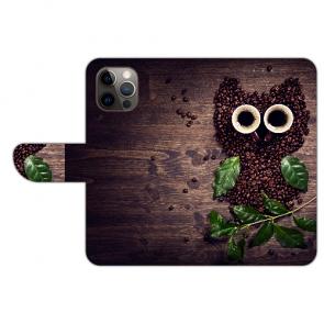 iPhone 12 Pro Personalisierte Handy Hülle mit Bilddruck Kaffee Eule