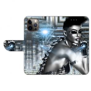 iPhone 12 Pro Max Handyhülle Tasche mit Bilddruck Robot Girl