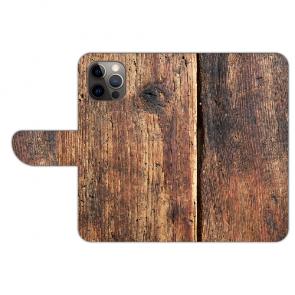 iPhone 12 mini Handy Hülle mit HolzOptik Bild Namen Druck Etui