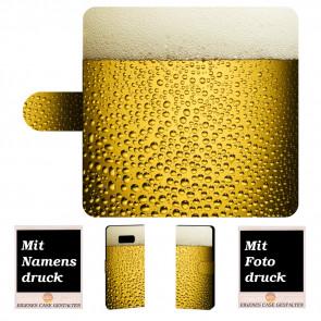 Samsung Galaxy S8 Plus Personalisierte Handyhülle mit Bier + Bilddruck