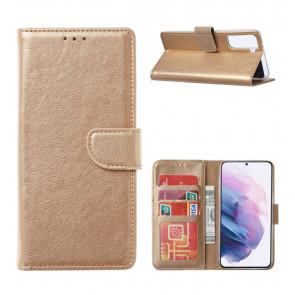 Schutzhülle Handy Tasche für Samsung Galaxy S9 in Gold Cover