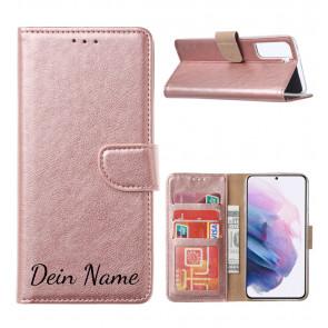 Schutzhülle für iPhone XR Rosa Gold mit Namensdruck