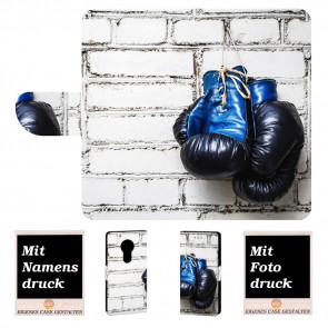 Motorola Moto E5 Handyhülle mit Boxhandschuhe + Fotodruck Text