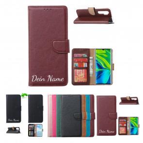 Samsung Galaxy Note 20 Handy Schutzhülle Tasche mit Namensdruck in Braun