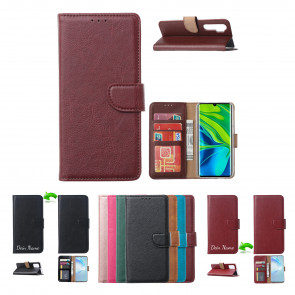 Handy Schutzhülle Tasche Cover in Braun für Xiaomi Mi Note 10 Lite