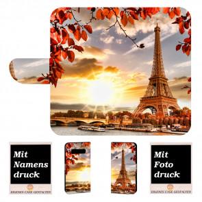 Samsung Galaxy S10 + Individuelle Handyhülle mit Eiffelturm + Fotodruck