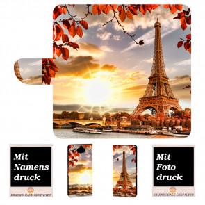 Handy Schutz Hülle für Sony Xperia XA3 Ultra mit Eiffelturm + Bilddruck