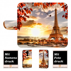Personalisierte Handy Tasche mit Fotodruck Eiffelturm für Nokia 8.1