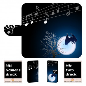 Samsung Galaxy S10 Handyhülle mit Fledermaus- Mond + Fotodruck