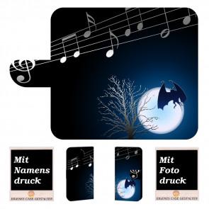 Individuelle Handy Tasche mit Fledermaus- Mond + Bilddruck für Nokia 8.1