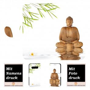 Samsung Galaxy S10e Handy Tasche mit Frieden Buddha + Fotodruck
