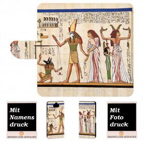 Sony Xperia XA3 Ultra Handyhülle Tasche mit Götter Ägypten + Fotodruck
