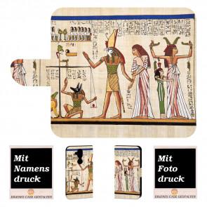 Personalisierte Handy Hülle mit Götter Ägyptens + Fotodruck Text Etui