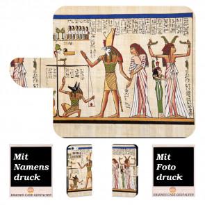 Individuelle Handy Tasche für iPhone 7 mit Fotodruck Götter Ägyptens
