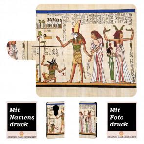 Handyhülle Tasche für Motorola Moto E5 mit Götter Ägypten + Bilddruck