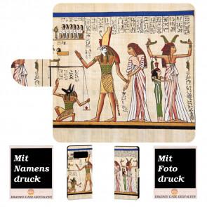 Samsung Galaxy S10 Handyhülle mit Götter Ägyptens + Bilddruck Text