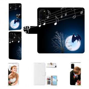 Handy Tasche mit Bild Druck Fledermaus-mond für Samsung Galaxy A51