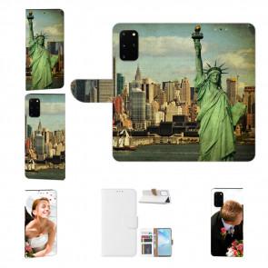 Samsung Galaxy A41 Handy Tasche mit Bild Druck Freiheitsstatue Etui