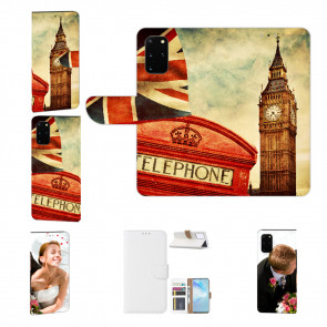 Samsung Galaxy A51 Handy Tasche mit Bilddruck Big Ben London Etui