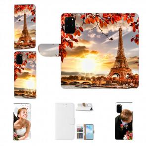 Samsung Galaxy A51 Handy Tasche mit Bild Namen Druck Eiffelturm Etui