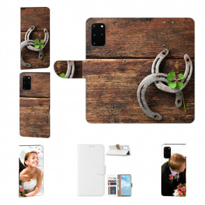 Samsung Galaxy A41 Schutzhülle Handy Hülle mit Bild Druck Holz hufeisen